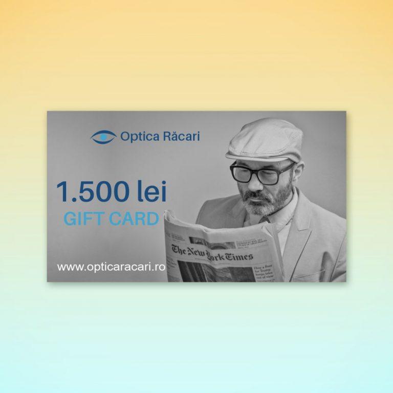 gift card optica racari 1500
