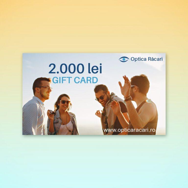 gift card optica racari 2000