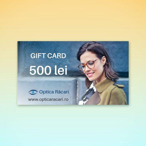 gift card optica racari 500